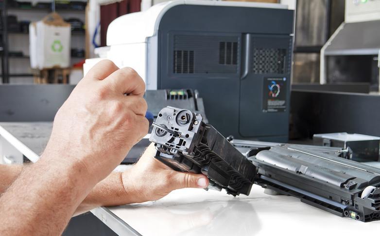 Reparatie printer cartridge drum
